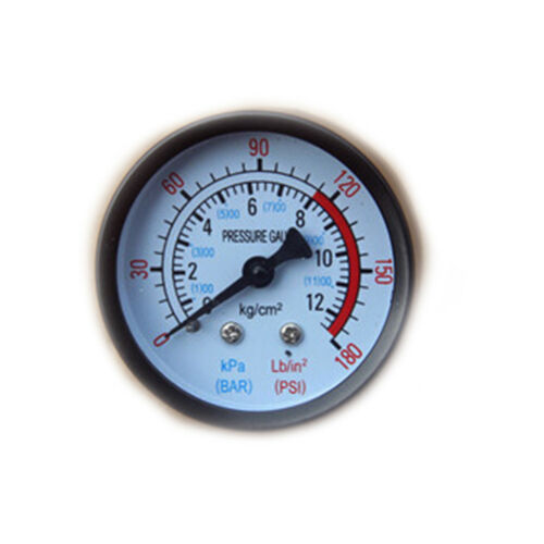 0-180PSI Air Compressor Pneumatic Hydraulic Fluid Pressure Gauge 0-12Bar ne Mm
