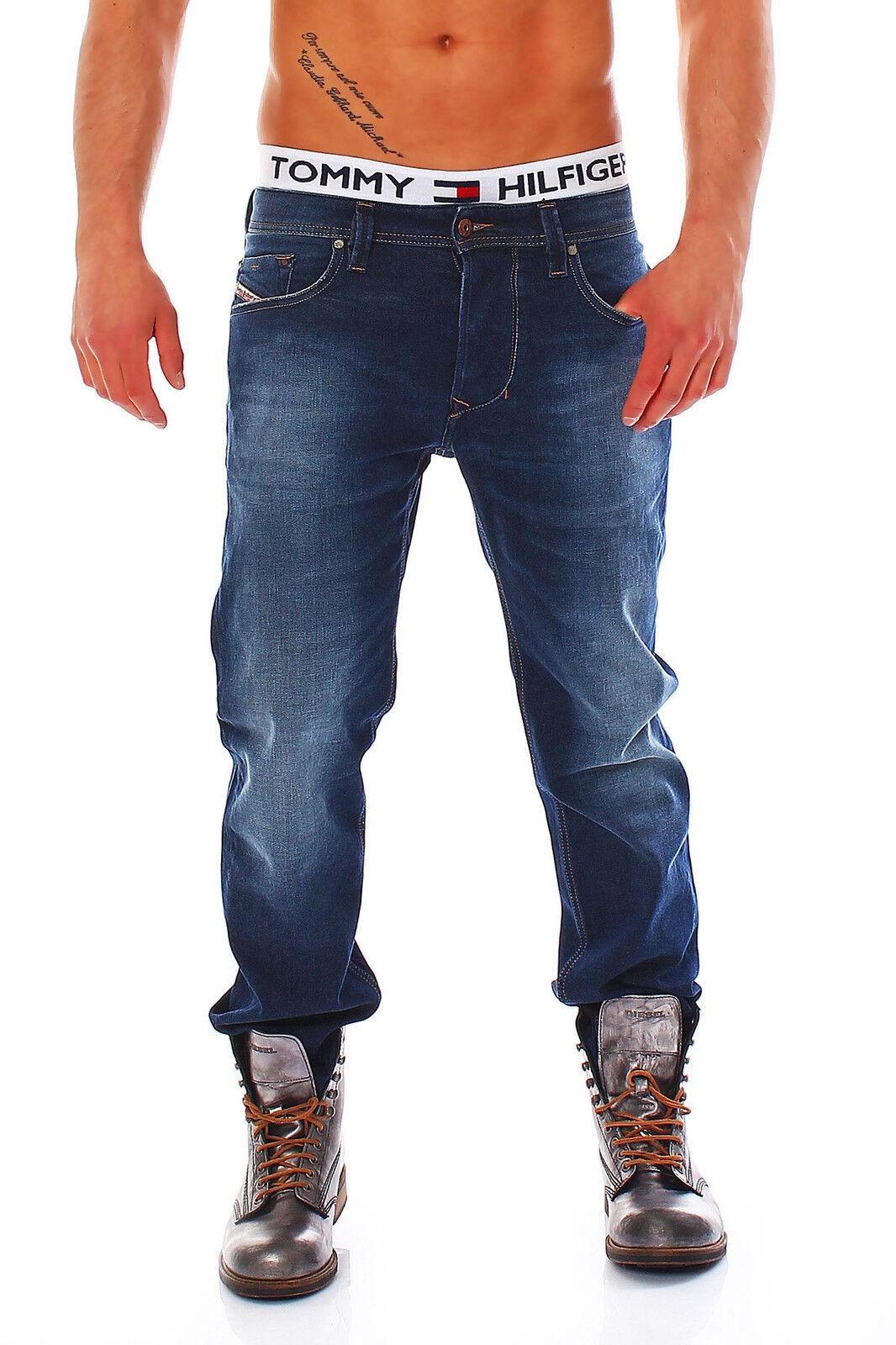 Diesel Jeans Jeans Jeans Larkee-T 0806M 806M Larkee T Regular Taperot blau NEU ff8371