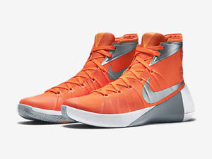 quality design ea54c 2242f Image is loading Nike-Hyperdunk-2015-White-Orange-Mens-Basketball-Shoes-