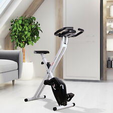 HOMCOM Folding Exercise Bike LCD Monitor Home Gym Training Exercise Black