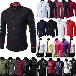 Camisa-Business-camisas-perchas-ligeramente-boda-ocio-slim-fit-t-shirt-Mode