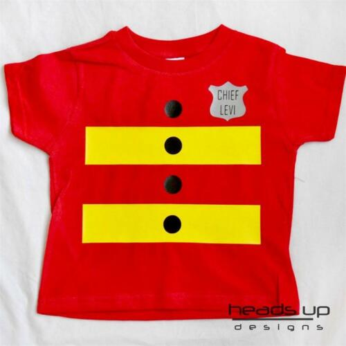 Fireman Fire Fighter Shirt Boy Grl Kid Toddler Newborn Baby Costume Bodysuit