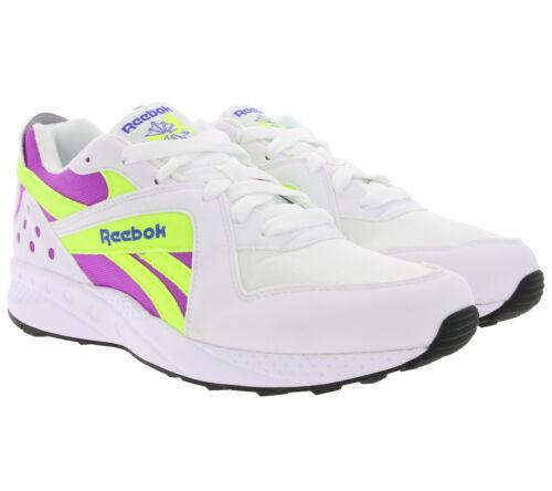 Reebok Classic Schuhe Retro-Sneaker mit weicher Dämpfung Pyro Weiß//Violett//Gelb