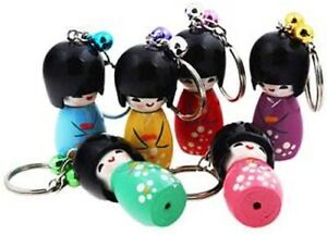 Japan-Kokeshi-Doll-Kimmidoll-Souvenir-Japanese-Travel-Keyring-Key-Chain-Gift-New