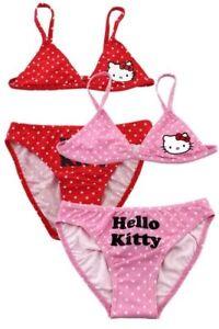 Hello Kitty Mädchen Bikini Gr.104-152, Tankini Bikinihose Badeanzug Neu ! FüR Schnellen Versand