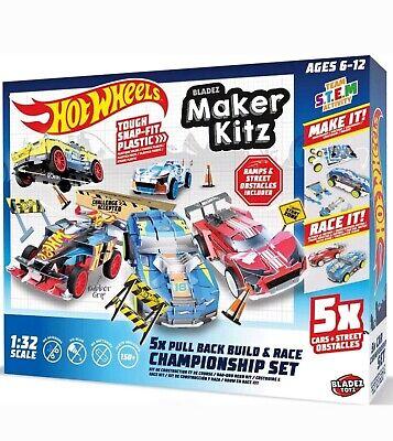 Hot Wheels Maker Kitz 1:32 Scale Tough Snap Fit Plastic Construction 6-12 Age