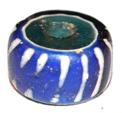 Rare Blue Antique Venetian Speo Bead, Italian African Trade Bead