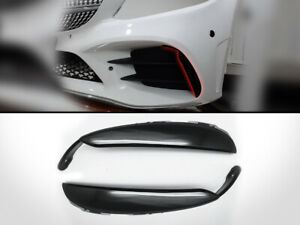 Front-Bumper-Canards-Flaps-Vent-For-2019-Up-Mercedes-Benz-W205-C43-AMG-Black