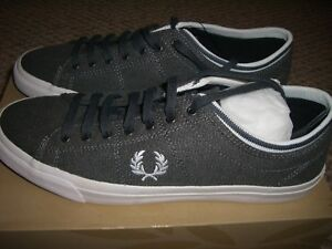 BRAND NEW   Men FRED Perry Kendrick Walking Shoes Grey White US Sz ... 3f29ca4add