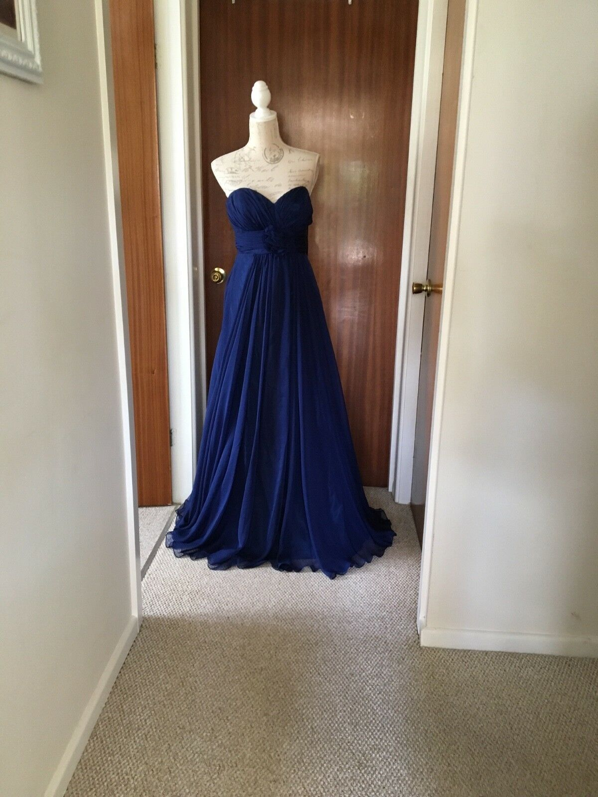 Ladies 'Alyce B'Dazzle' navy strapless prom dress  , size 12with tags