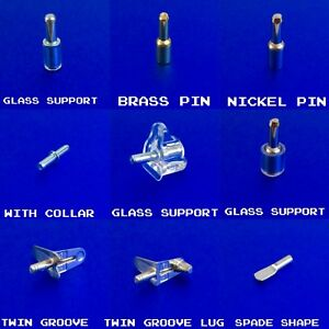 SHELF SUPPORTS METAL PINS PEGS STUDS IN 3,4MM HOLE SIZE KITCHEN CABINET CUPBOARD