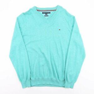 Tommy Hilfiger blau Classic V-Neck Pullover Herren XL