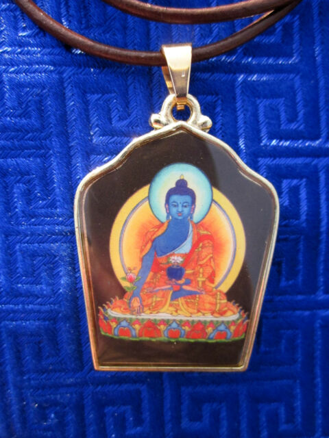 SPECIAL GOLDPLATED HEALING MEDICINE BUDDHA TIBETAN BUDDHIST PENDANT NECKLACE