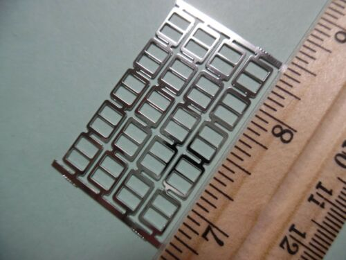"MINIATURE DOLLHOUSE BUCKLES~BASIC~SILVER~5//16/""x1//4/""~SET 4~TINY DOLL BUCKLES~B10"