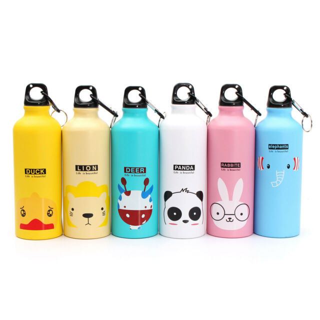 500ml Cartoon Outdoor Sports Bike Bicycle Cycling Drink Water Bottle Carabiner