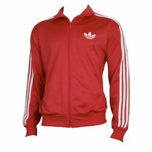 Details about adidas Originals Men's Superstar Track Jacket Red Size Large