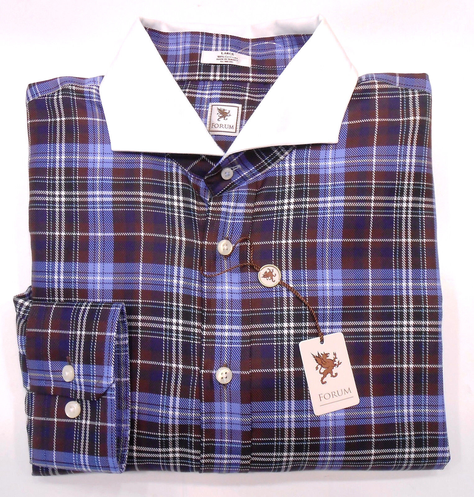 PETER MILLAR BNWT 245 ANDRISEN MORTON FORUM TARTAN COTTON SHIRT US SZ L / 17-35