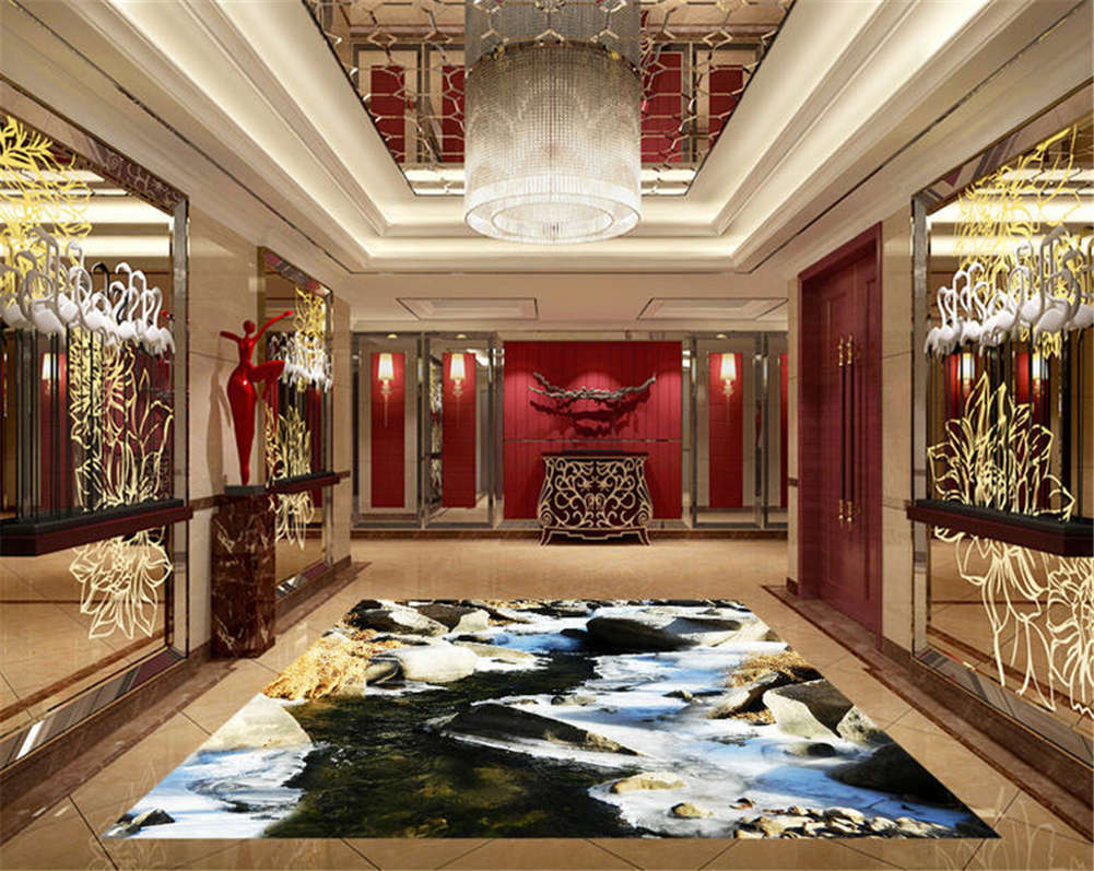 Majestic Majestic Majestic Mountain 3D Floor Mural Photo Flooring Wallpaper Home Print Decoration f6143a