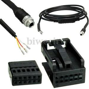 3 5mm aux auxiliary wire female audio music cable for bmw. Black Bedroom Furniture Sets. Home Design Ideas