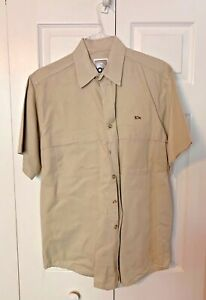 10x-Shooting-Mens-Size-Large-Shirt-Hunting-Button-Down-Short-Sleeve-EUC