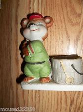 Jasco Rabbit baseball Figurine Candle Holder  cute vintage