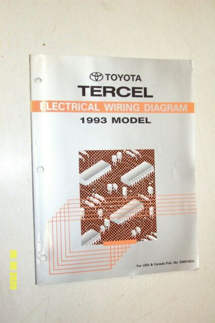 1993 Toyota Tercel Electrical Wiring Diagrams Service Shop