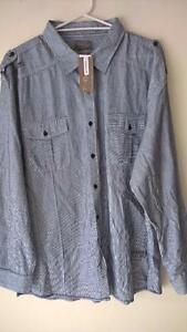 MENS-SIZE-4XL-STRIPED-FASHION-COTTON-SHIRT-TOP-NEW-WITH-TAGS-RRP-49-99