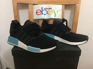 defd8ad71d5fd 2017 Adidas NMD R1 Runner W Black Icey Light Blue BY9951 Mesh Girl ...