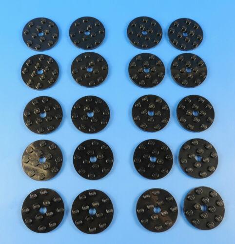 schwarz 4x4 Rundplatte mit Loch 4515330 LEGO® AUSWAHL AN STÜCKZAHL Nr