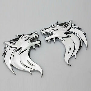 2-PCS-Chrome-Alloy-Wolf-Head-Car-Sticker-Badge-Auto-Doors-Decal-Tailgate-Emblem
