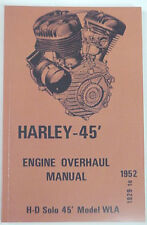 New Harley 45, WLA, Servi-Car Engine Overhaul Service Manual and MORE! 1929-1952
