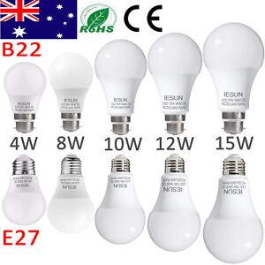AU-B22-Bayonet-E27-Screw-4-6-8-10-12-15W-LED-Globe-Light-Lamp-Energy-Saving-Bulb