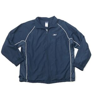 87542d6e3f9bd Details about REEBOK Mens Track Jacket Size XL Extra Large Warm Up Soft  Shell Athletic VECTOR
