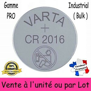 VARTA CR2016 bouton Lithium 3V à l'unité ou par 2 5 10 20 30 40 50 ou 100 piles