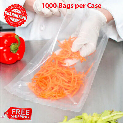 """8/"""" x 10/"""" Chamber Vacuum Packaging Pouches Bags 4 Mil Boilable Nylon 1000 Case"""