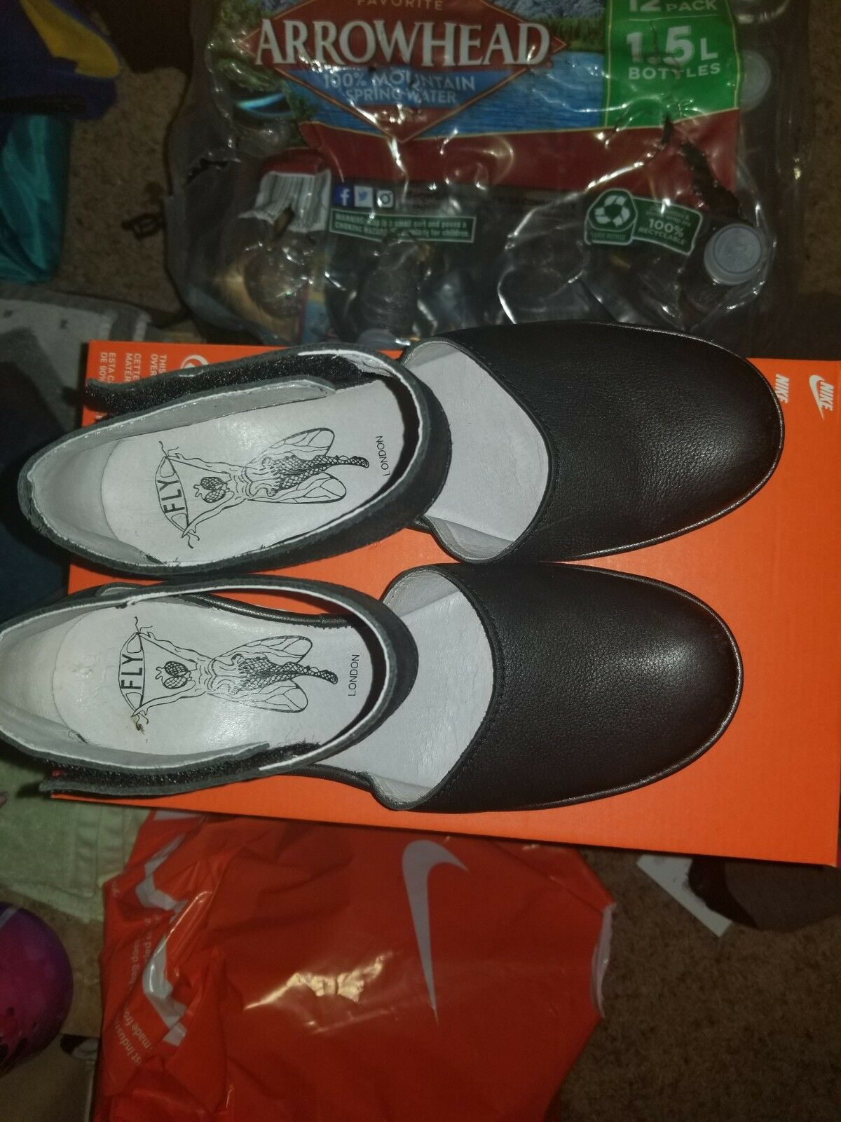 Fly London Leather Wedges Size 8.5 Great Condition and very comfortable