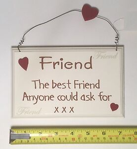 Image Is Loading The Best Friend Wall Plaque Friendship Birthday Gift