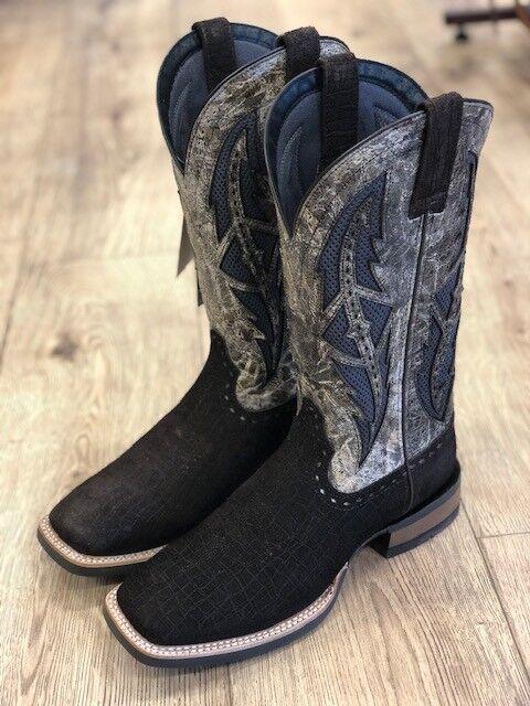 Ariat Men's Cowhand VentTEK Chocolate Hippo Print Square Toe Boot 10027174