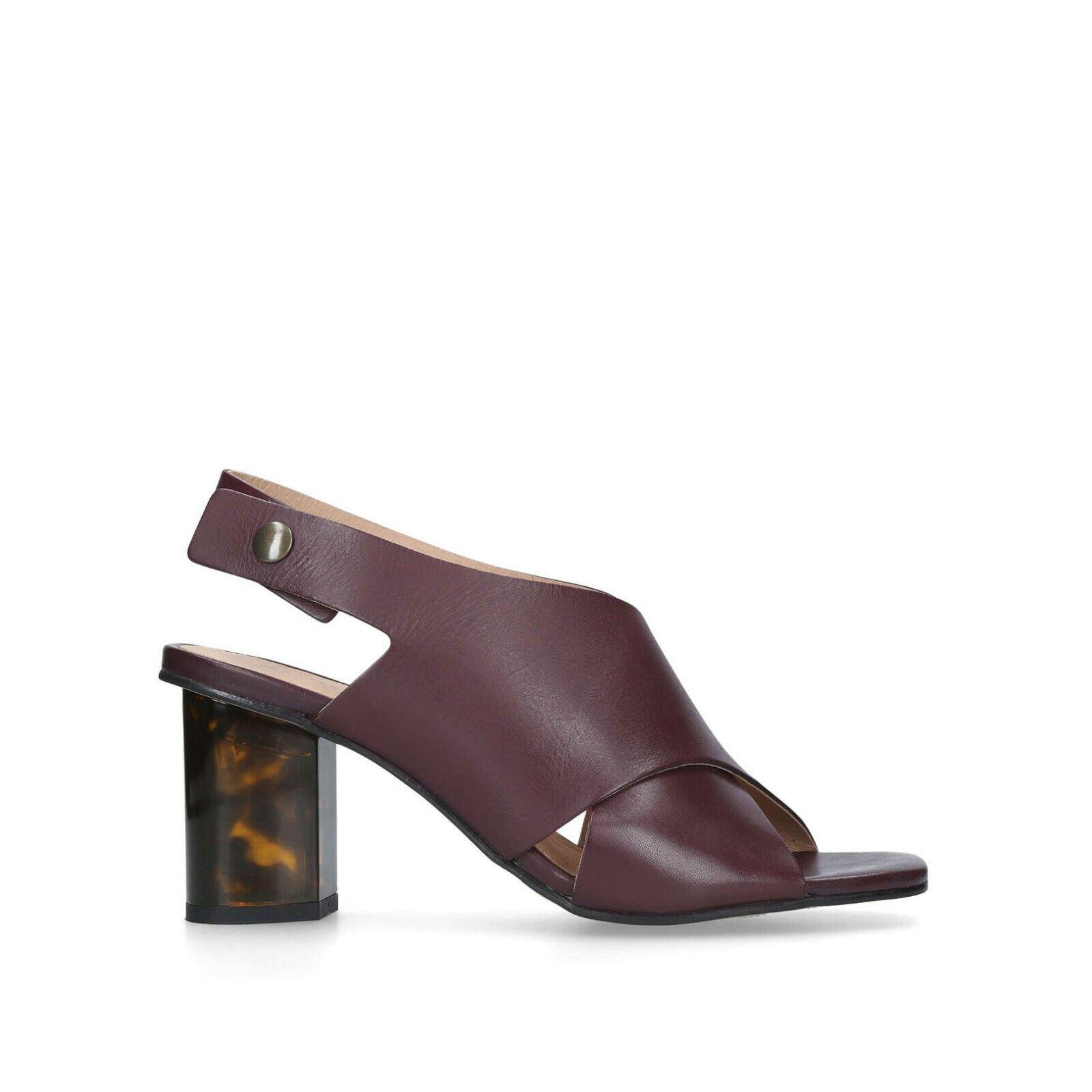 Kurt Geiger London Wine Leather Summer Sandals Size 5   38   New in Box
