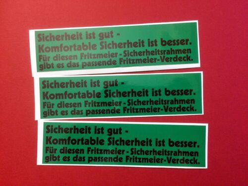 Fritzmeier Aufkleber Eicher Kramer Lanz Cormick Fahr Deutz John Deere Ursus