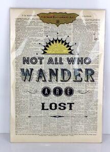 Vintage Dictionary Art Print Plaque