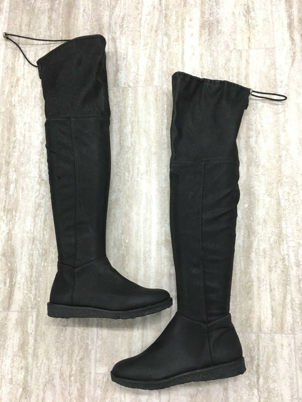 BCBGeneration Brennan Tall Over the Knee Black Flat Boots Size 6.5