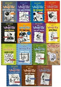 Diary-of-a-Wimpy-Kid-Collection-15-Books-Set-Jeff-Kinney-Wrecking-Ball-Meltdown
