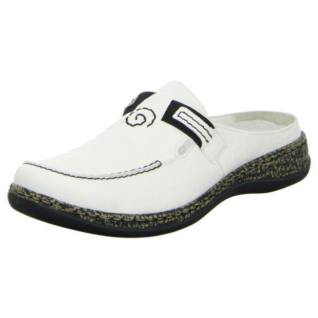 Details zu Rieker 46393 80 Schuhe Damen Pantoletten Clogs Sabot