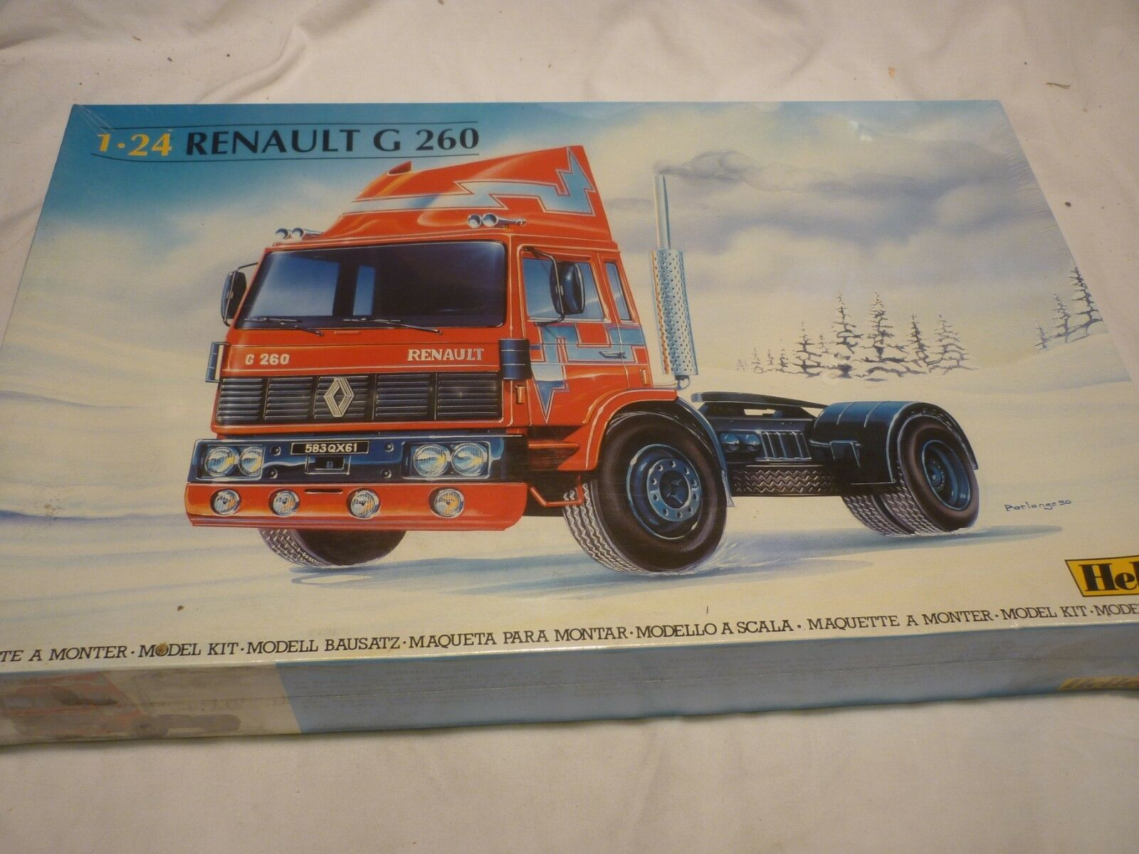 A Vintage HELLER un-opened   un-made plastic kit of a RENAULT G 260