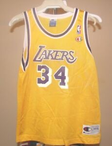Los Angeles Lakers NBA Champion Gold Shaquille O Neal  34 Youth ... 334d607bb