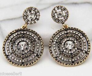 1-Pair-Elegant-White-Crystal-Rhinestone-Ear-Drop-Dangle-Stud-long-Earrings-253