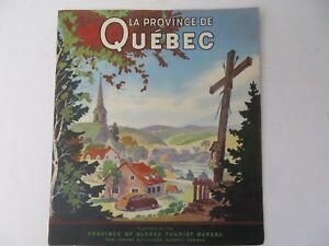 Vintage la province de quebec tourist bureau brochure 1940s #9565
