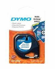 Dymo 91331 LetraTag Labeling Tape for LetraTag Label Makers Black Print on W X