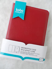 Original Kobo Touch N905 Leder Bookstyle Case Schutzhülle Leather f. E-Book Rot